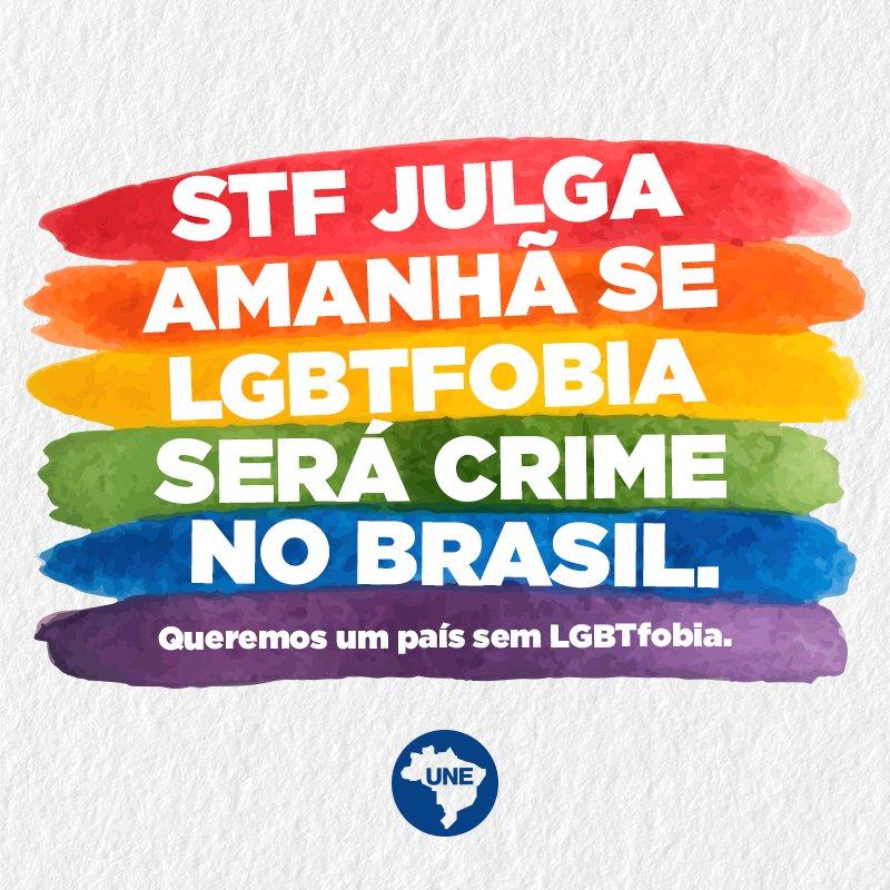 Por um país mais justo, com mais amor, empatia e respeito por todos. Por um Brasil sem LGBTfobia!