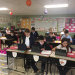 Image for the Tweet beginning: 4th graders working hard on