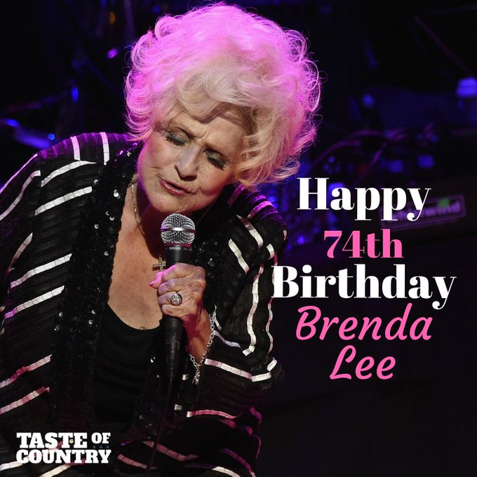 Happy 74th Birthday to the beautiful Brenda Lee