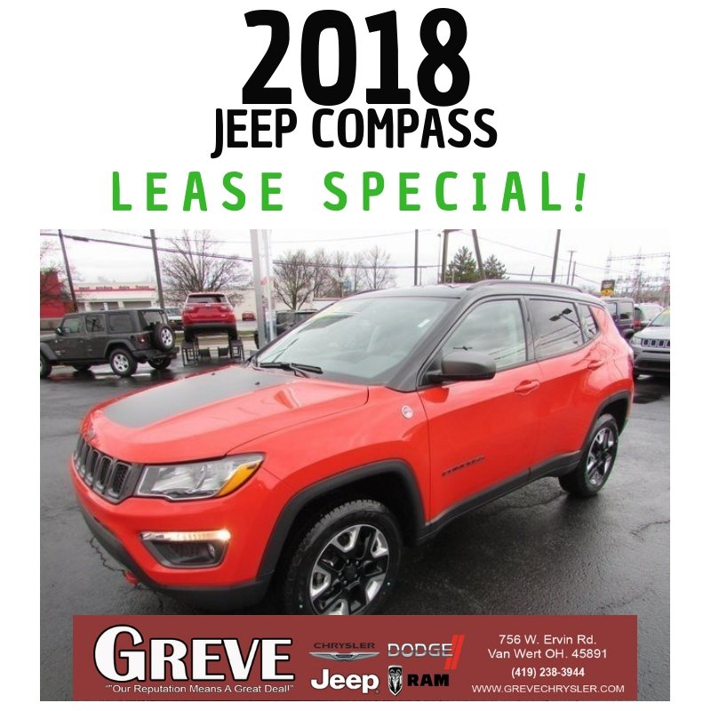 greve chrysler on twitter lease special alert this 2018 jeep compass has had a recent price drop 350 month for 36 months wow claim this special today while it lasts https t co vprqnqgmrf greves twitter