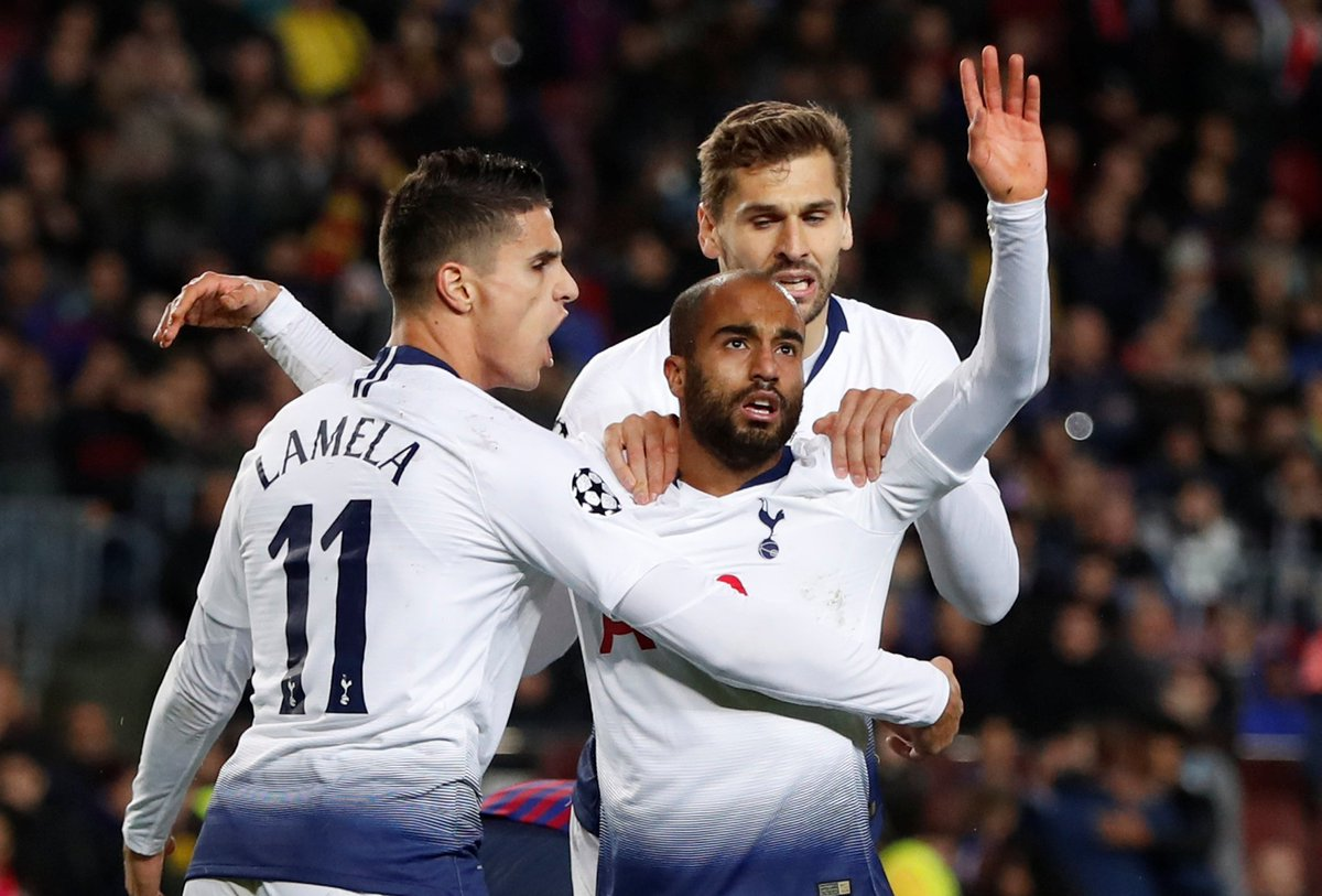 FT: Barcelona 1 Tottenham 1  Spurs through to the Champions League last 16 after a dominant second half performance in the Camp Nou https://www.telegraph.co.uk/football/2018/12/11/barcelona-vs-tottenham-champions-league-live-score-latest-updates/ …
