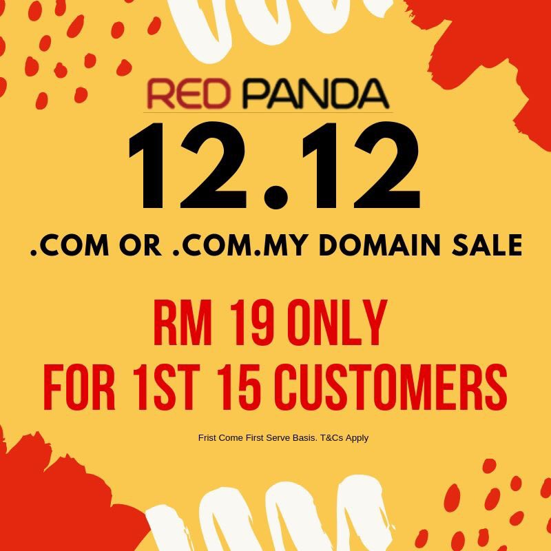 Red Panda Network On Twitter Crazy 12 12 Domain Promotion Limited Offer Actnow Contactus Redpanda Domainpromo Mynic Mydomain Promo Limitedtime Malaysiadomains 1212 Sale Https T Co N59vgokei6