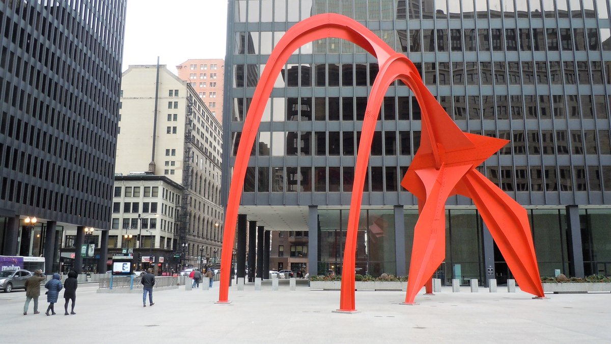 Shared from Photos app 1 photo Chicago's Federal Plaza.
