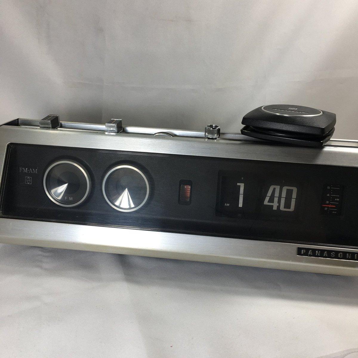 1970's Panasonic RC-7589 FM-AM Flip Clock Radio with Pillow Speaker   https://www.ebay.com/itm/253911422804…  #panasonic #vintage #flipclock #pillowspeaker #AMFM #vintageclock #clock #style #time #flipclocks #spaceage #flip #retro #ebayROCteampic.twitter.com/PgjEsr6ZYx
