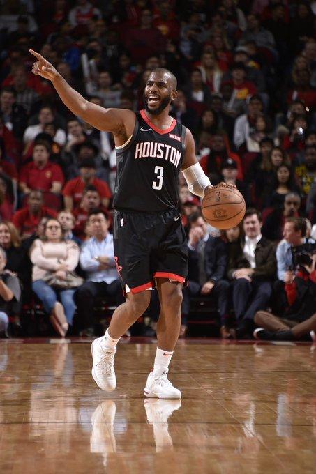 FINAL: #Rockets 111-104 Blazers. #NBAnoSporTV Harden: 29 PTS Paul: 11 PTS, 11 ASTS, 10 REBS Capela: 13 PTS Gordon: 14 PTS Green: 13 PTS House: 12 PTS Nenê: 10 PTS 12-14 na temporada agora. Foto
