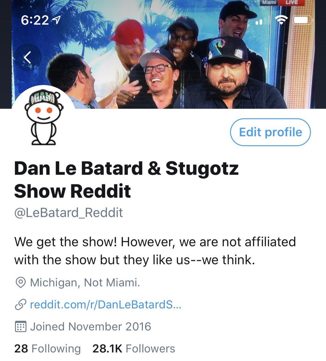 Dan Le Batard & Stugotz Show Reddit on Twitter:
