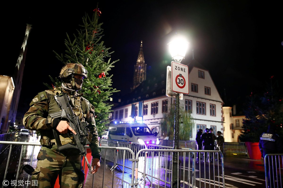 At least four dead, 11 injured in shooting near a Christmas market in eastern French city of Strasbourg, gunman still at large, Reuters reports citing police source