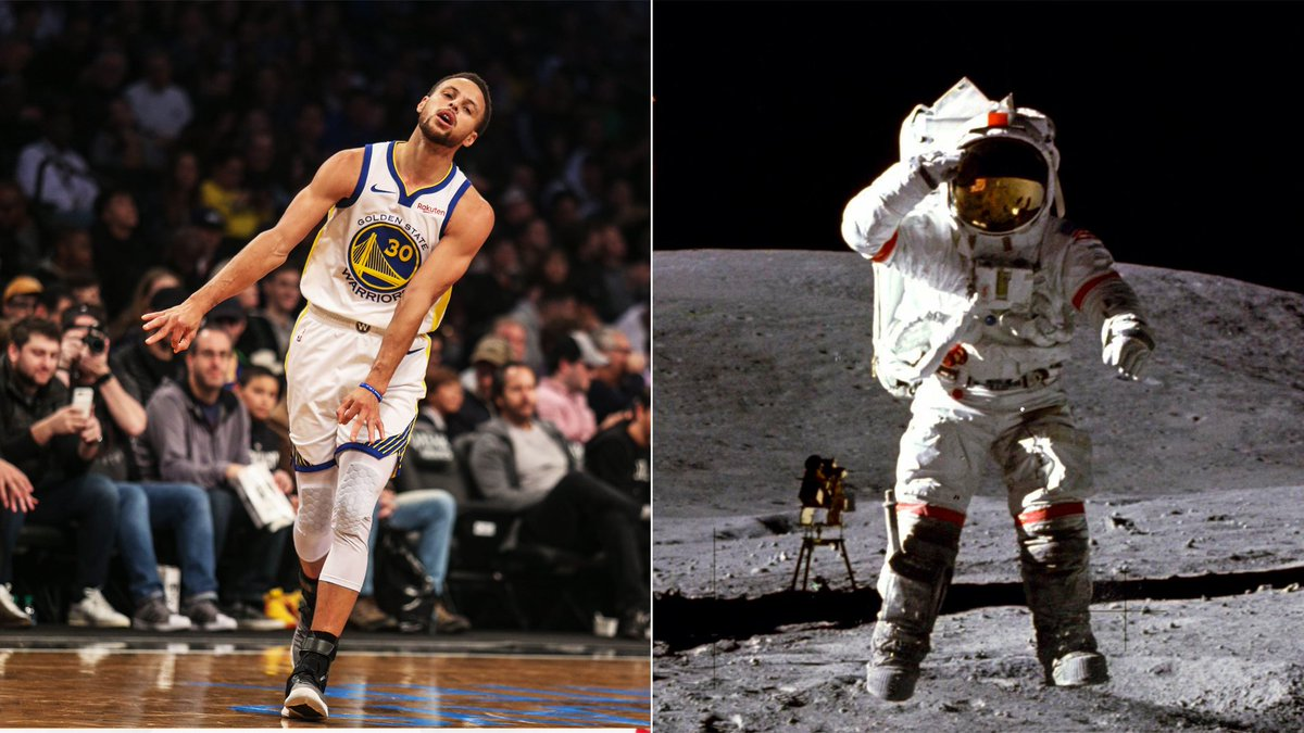 NASA wants to show Steph Curry that yes, people did land on the moon. (via @marcuspwhite) bit.ly/2SCddyG