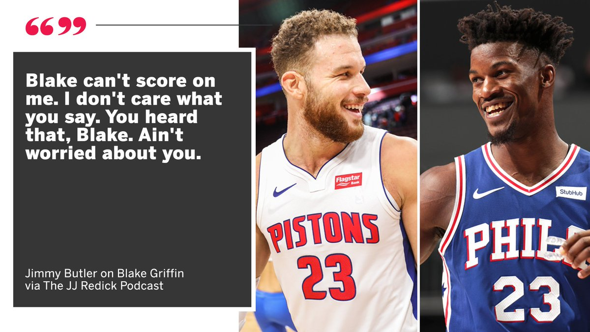Jimmy Butler&#39;s talking to you, Blake  <br>http://pic.twitter.com/wKcYbZgGFs