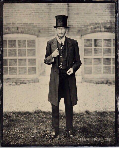 Glens Falls Art tintype of Abraham Lincoln re-enactor.