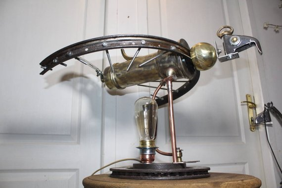 "#steampunk https://t.co/0NKXmllbcm Lamp industrial ""royal Cafaigle"" By Recyclhome. by Recyclhome"