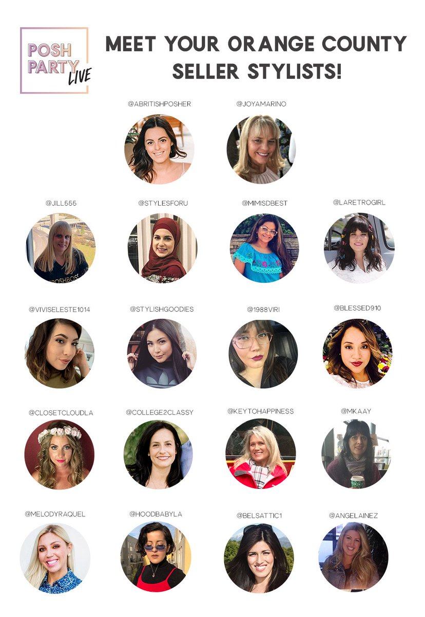 Meet your Seller Stylists who will be joining us as speakers, closet consultants, and more during #PoshPartyLIVE in Orange County this Thursday! Snag your tickets: https://t.co/bk5L27aDAh