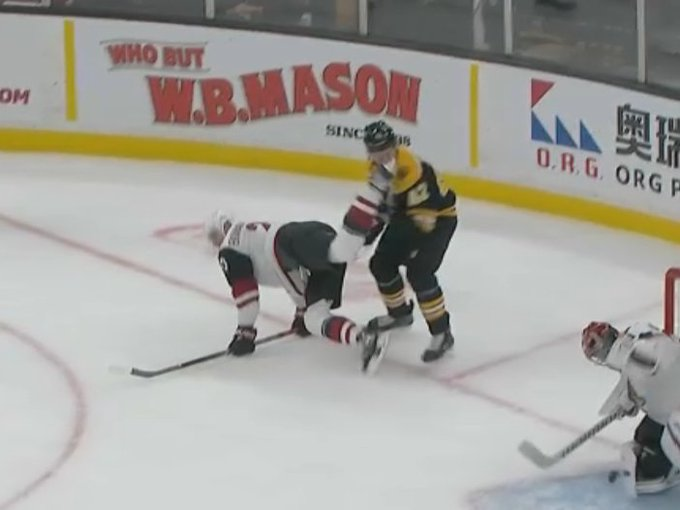 David Backes is back out there. Hockey players are freaking tough man. Dude took a skate to the face. #Bruins #ToughGuy Photo