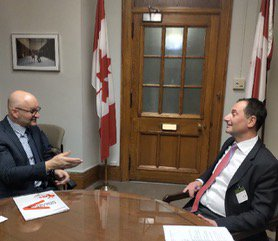 test Twitter Media - Today, @RobertGhiz met with MP @DavidLametti to discuss how #5G will drive innovation, create jobs, and help make Canadian businesses more competitive. #CdnWireless https://t.co/YRO57bopvL