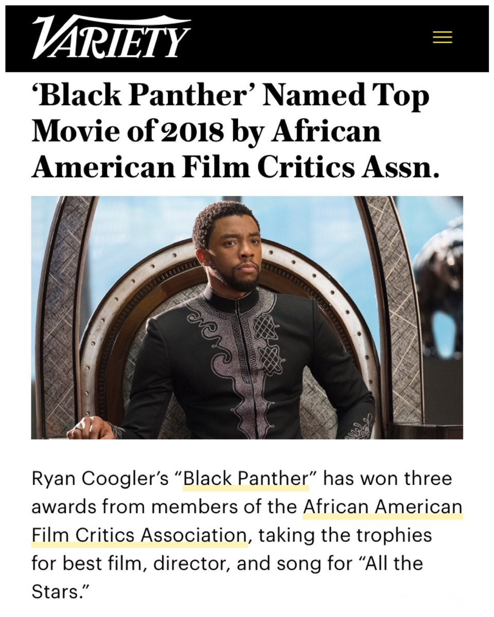 Thank you, @AAFCA! The Kingdom of Wakanda motions to make your 🏆 out of vibranium! #WakandaBoutThat #BlackPanther