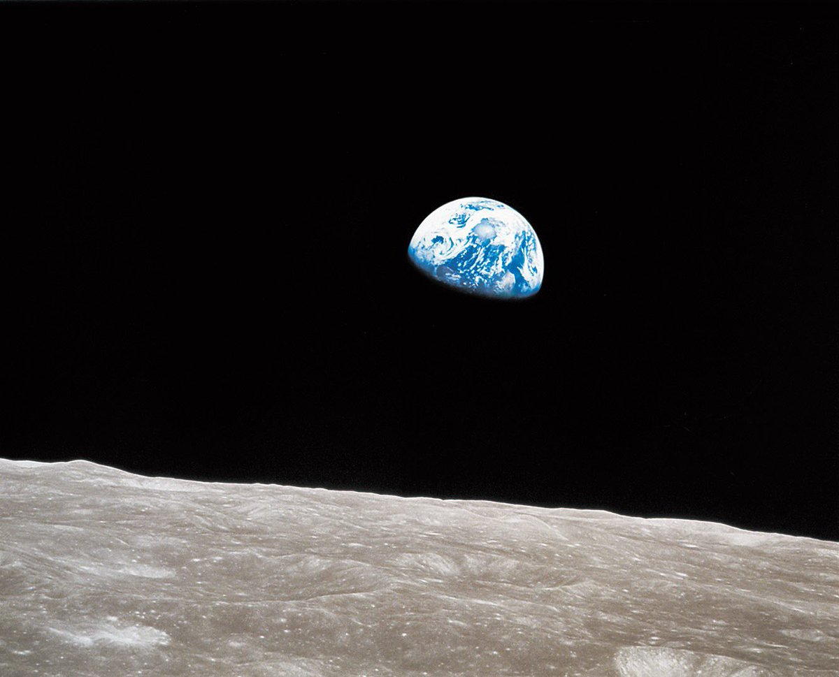 """But seeing the Earth at 240,000 miles, my world suddenly expanded to infinity."" - Jim Lovell, Apollo 8 astronaut  #SpiritofApollo"
