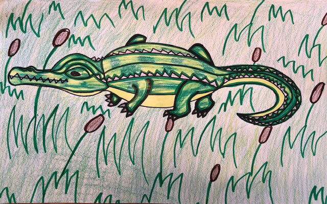 One of our very own Mitchell 5th graders is a 1st place winner in the @SEWE youth art contest! Awesome Lowcountry alligator, Reggie! @CCSDConnects <br>http://pic.twitter.com/thSuSDBAmT