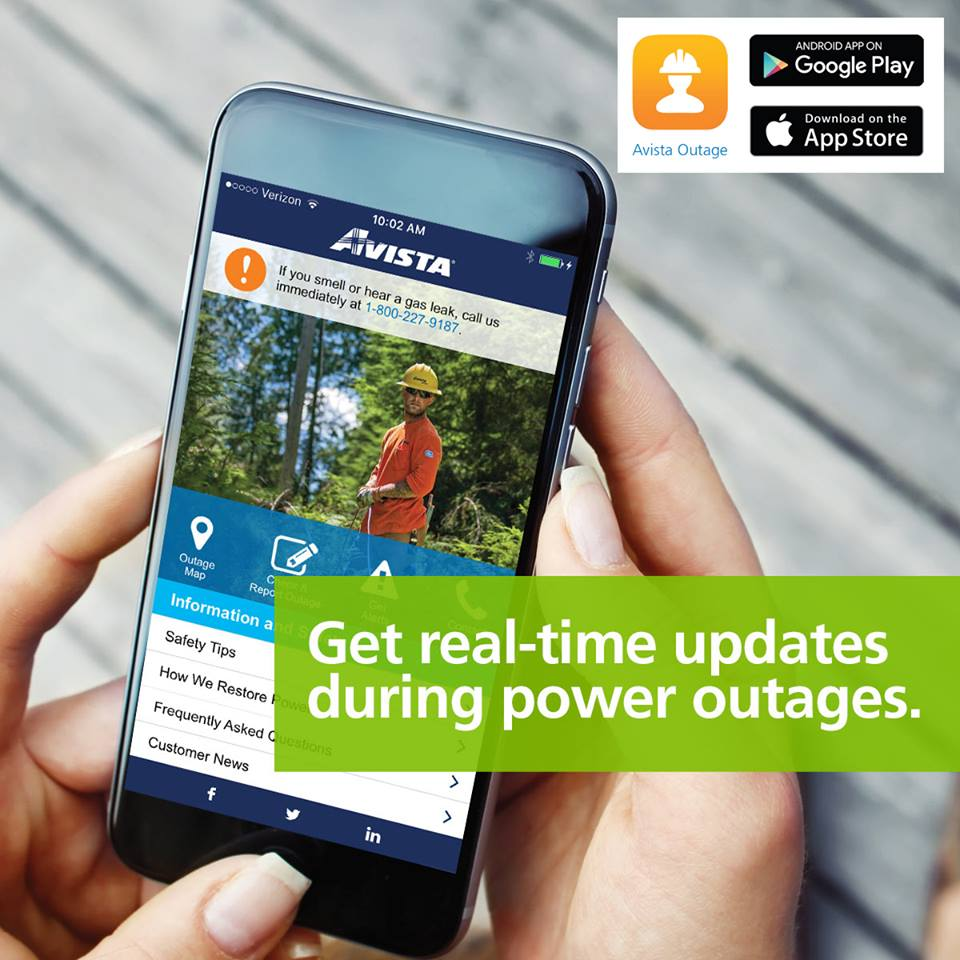 Avista Utilities On Twitter Download The Avista Outage App For