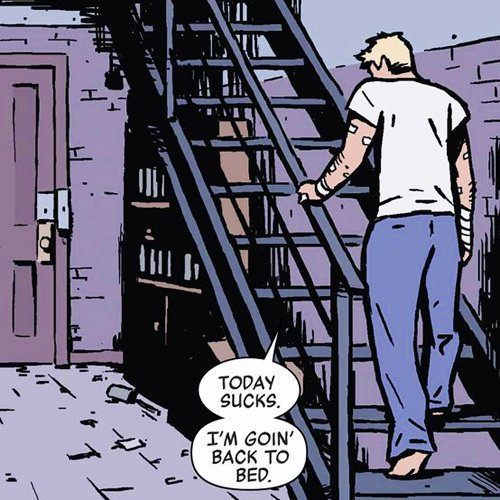 i relate to comic clint barton on a spiritual level