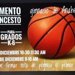 Image for the Tweet beginning: Gratis! Campamento de Baloncesto durante