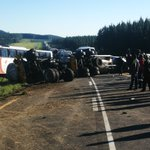 Earlier crash on the N2 about 20km's before Kokstad. Recovery in progress. One lane now open.