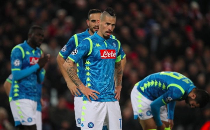 Another tale of near misses as Napoli fall from the Champions League at Anfield https://t.co/AYPnxn9OE0