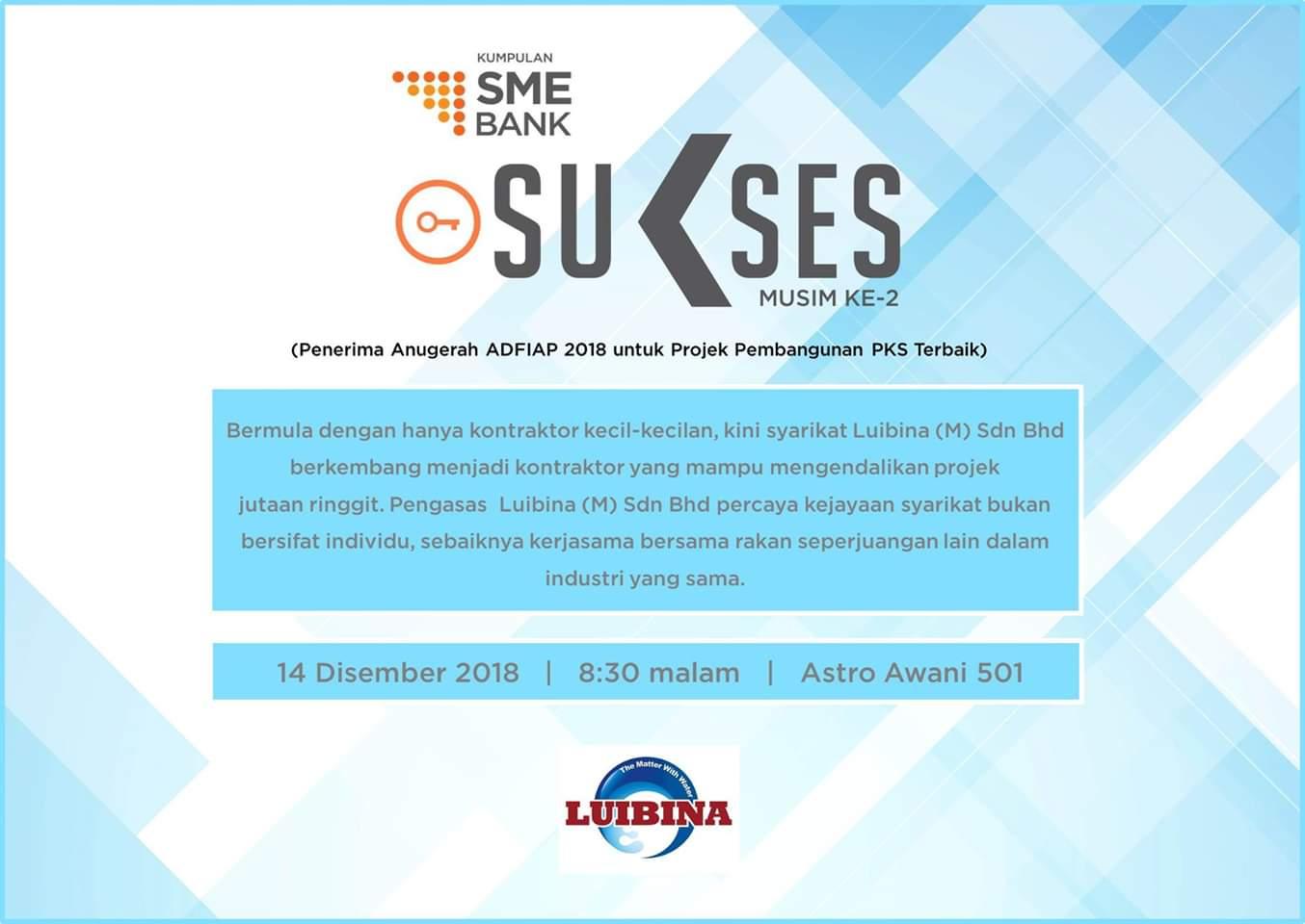 Sme Bank On Twitter Bermula Dengan Hanya Kontraktor Kecil Kecilan Kini Syarikat Luibina M Sdn Bhd Berkembang Menjadi Kontraktor Yang Mampu Mengendalikan Projek Jutaan Ringgit Saksikan Kisah Kejayaan Dan Dapatkan Tip Tip Perniagaan Dalam