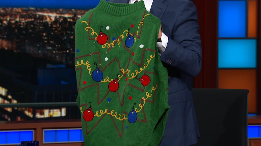 The Late Show On Twitter Which At Whoopigoldberg Holiday Sweater Are