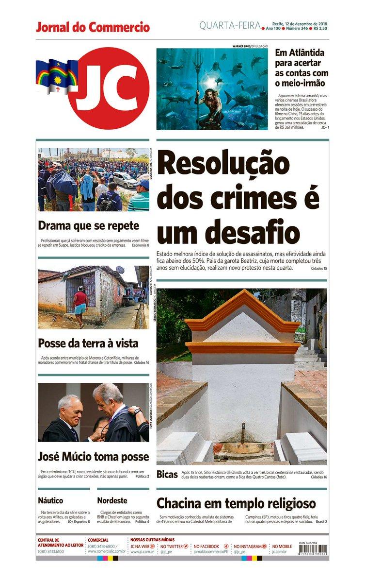 Capa do dia 12/12/2018