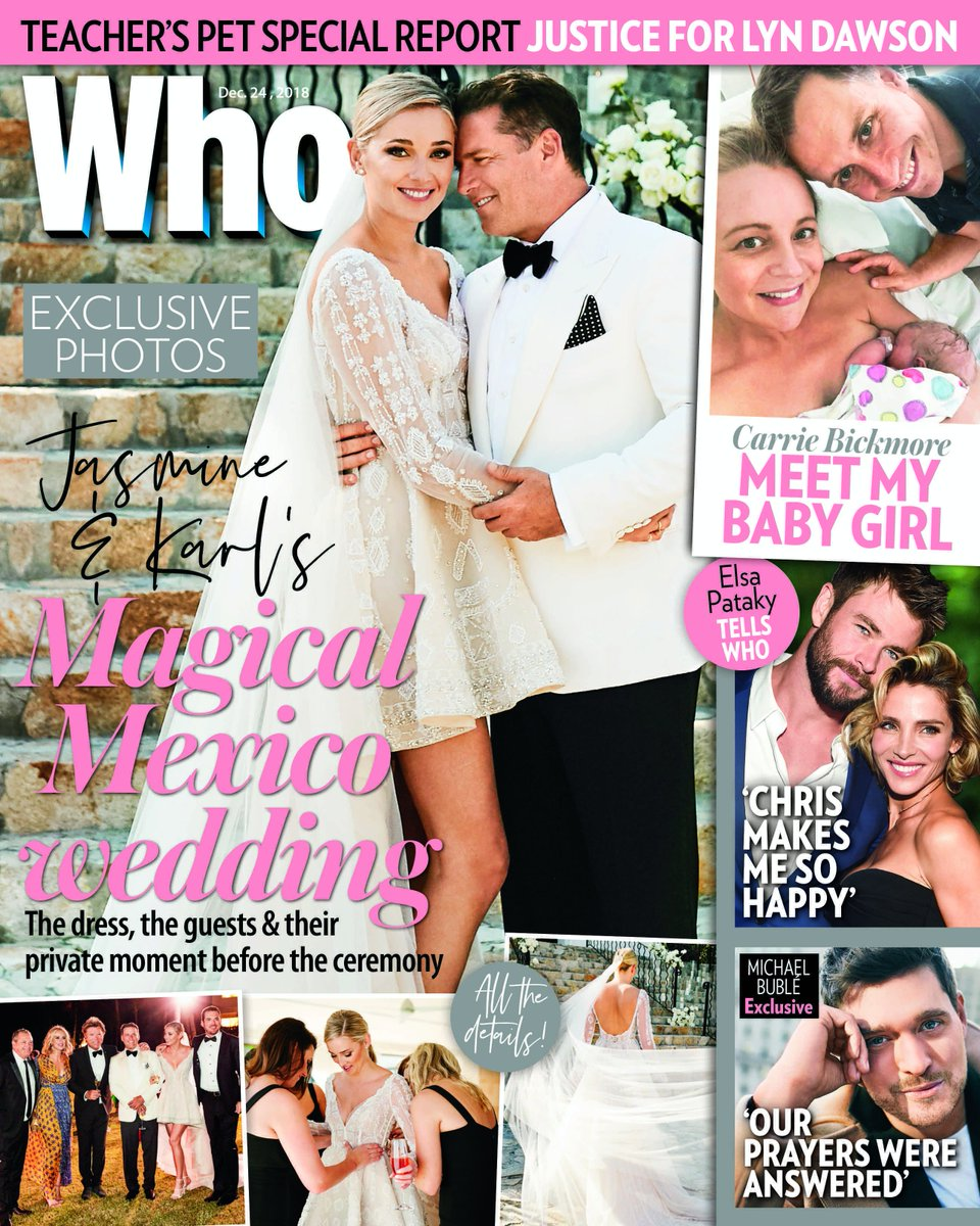 EXCLUSIVE photos from Jasmine & Karl Stefanovic's magical Mexico wedding. Our Editor Keshnee Kemp, a guest of the couple, was there to witness the special occasion and reveal all on Jas and Karl's private moment, their guests, the speeches and more. Only in WHO, on sale Thursday