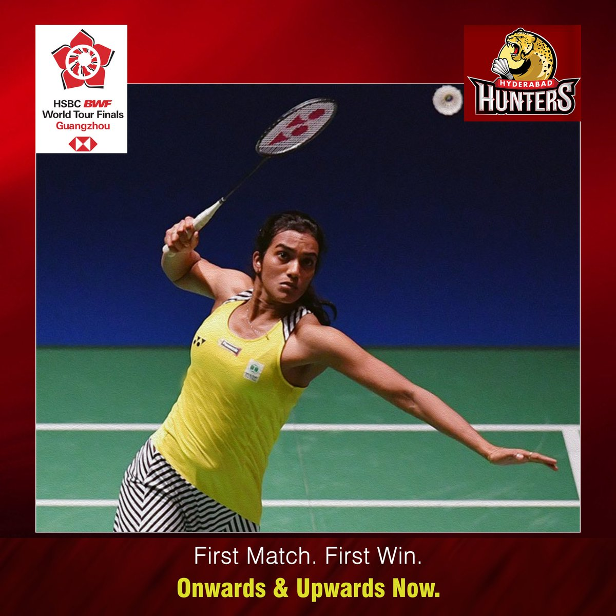 The #Hunters skipper @Pvsindhu1 makes a clinical start to the #BWFWorldTourFinals2018 with a 24-22 21-15 victory over Akane Yamaguchi of Japan. Tougher battles ahead but this was just the perfect start! #BWFWorldTourFinals #Guangzhou #HuntersArmy #HyderabadHunters