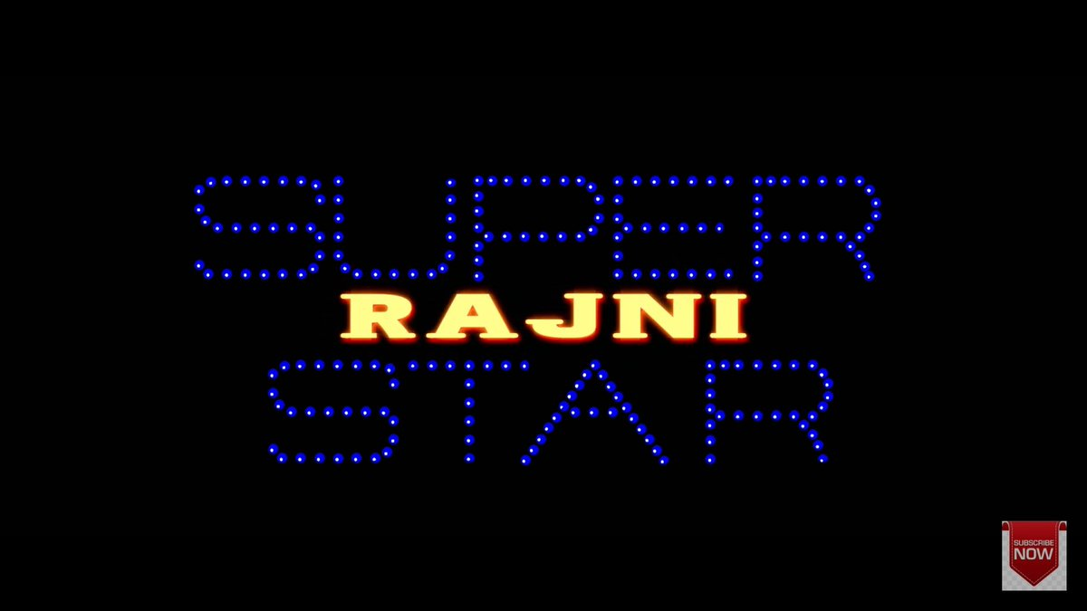 This title card is more than enough to set our screens on fire !  Happy bday Thalaiva ! 🔥 #HappyBirthdayThalaiva