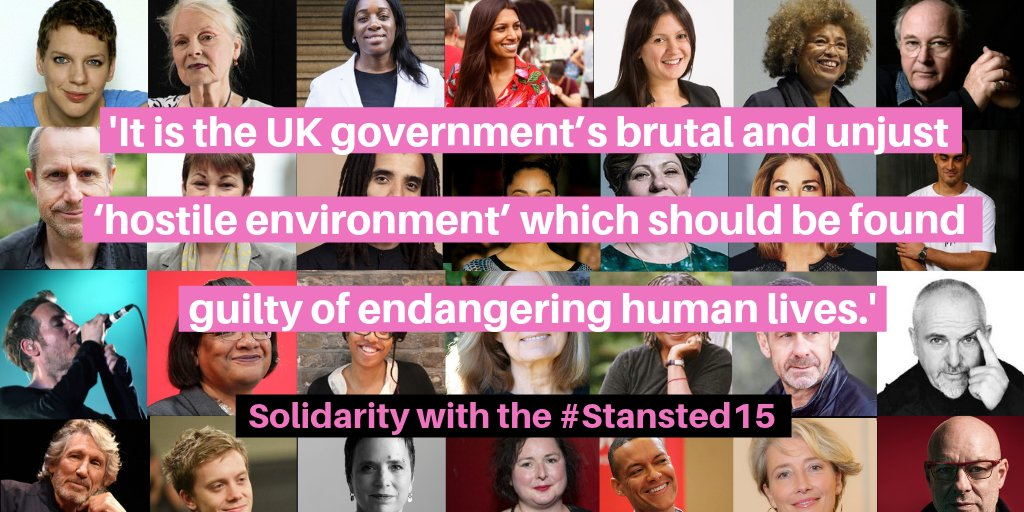 Over 300 people including politicians, academics and artists have signed a letter in support of the #Stansted15 ✊theguardian.com/law/2018/dec/1…
