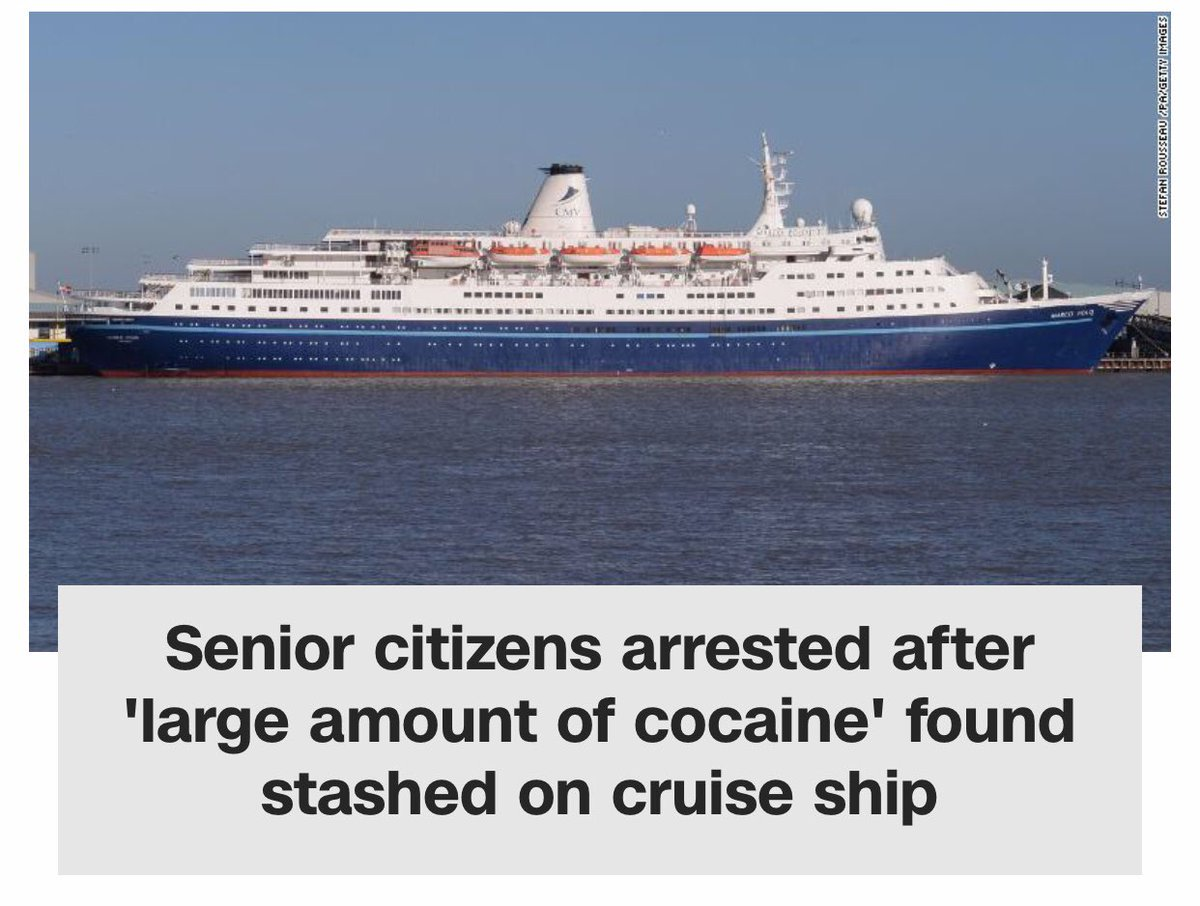 Look, if old people can't do copious amounts of blow on the Love Boat just what the hell is this world coming to?