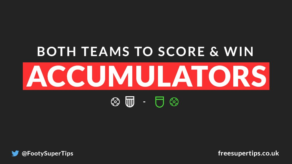 ⚽ 14/1 BTTS & Win Double is READY TO GO! ⚽  Kicks off at 17:55 in the #ChampionsLeague!  BACK IT IN 1-CLICK HERE ▶ https://www.freesupertips.co.uk/both-teams-to-score-and-win-accumulator/…  (18+)