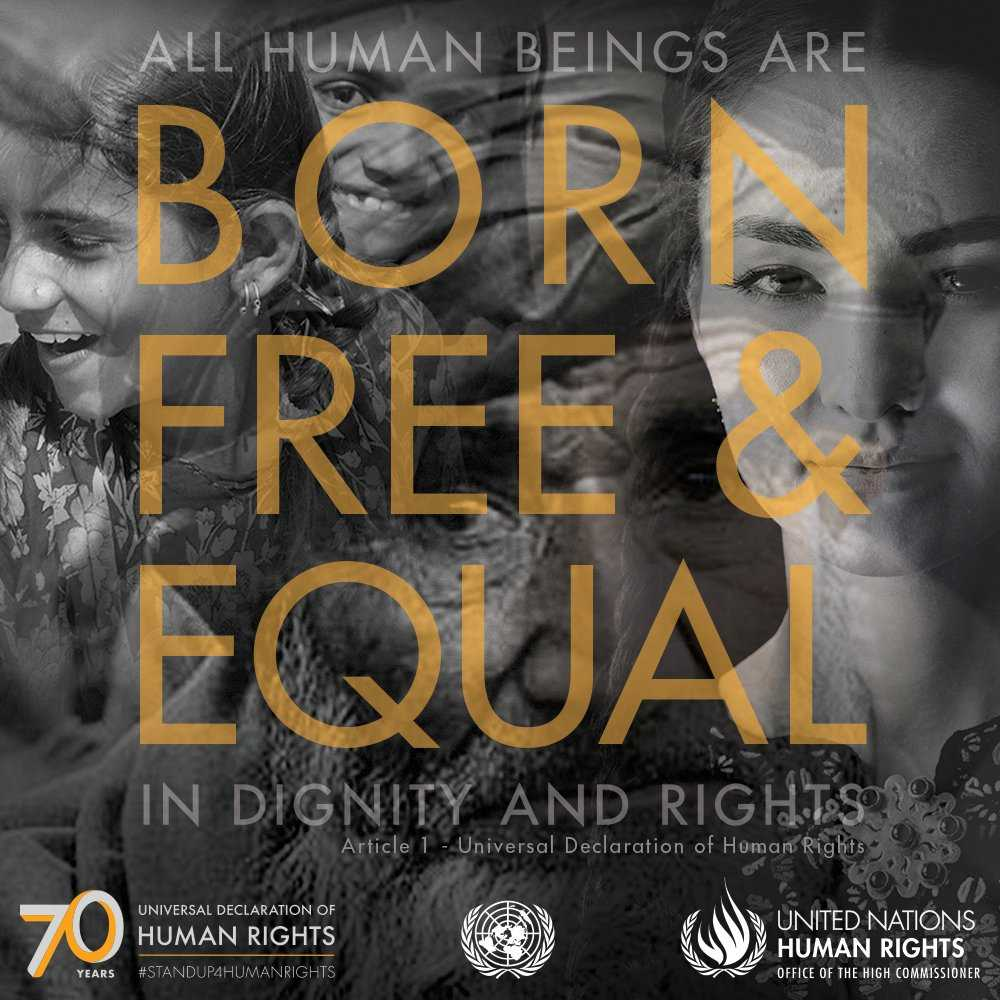 """Human rights begin with childrens rights. Learn more about articles of the Universal Declaration of #HumanRights - a """"common standard of achievement for all people and all nations"""" - here: ow.ly/bLTZ50jTl0J #StandUp4HumanRights #UDHR70 @unhumanrights"""