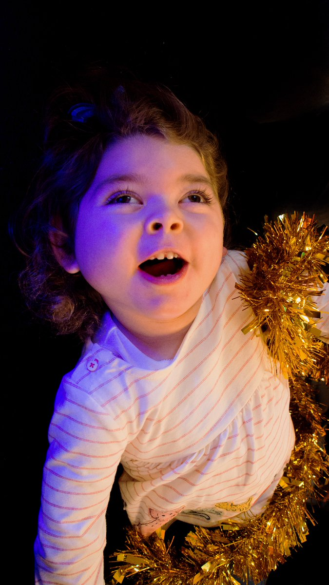 Two-year-old Mia has a visual processing condition which means she can only distinguish between light & dark. At Sense's Mini-Magpies pre-school group, she found joy in sparkly lights in the sensory room. To light up a deafblind child's #Christmas, visit https://www.sense.org.uk/support-us/donate/christmas-appeal/…