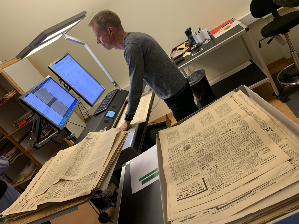 test Twitter Media - Scanning ALL out-of-copyright Swedish newspapers (1645-1906) at the National Library of Sweden @kungbib @NatLibSwe @ra_arkivgatan9. 🇸🇪  Records will be #openaccess here: https://t.co/l5SXxhXWWX   Read more about the project: https://t.co/PdqsahVFh3 https://t.co/5FYbNakFC7