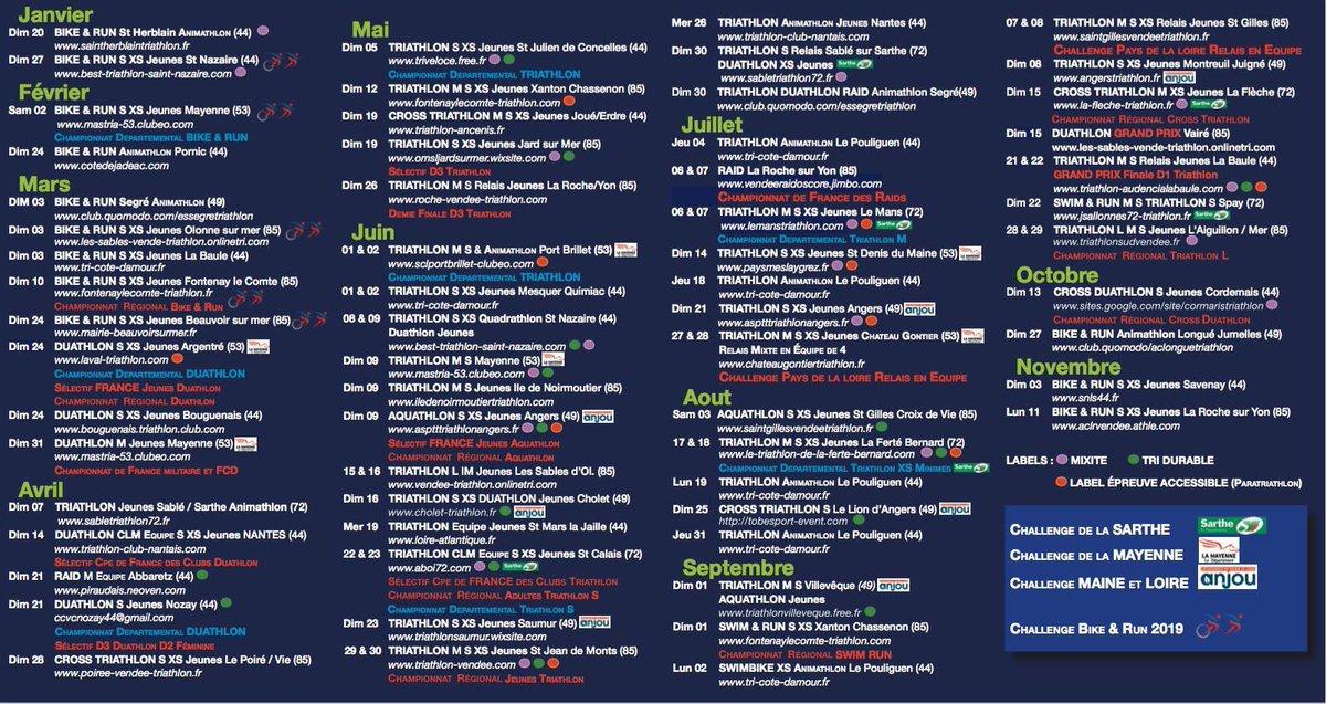 Calendrier Triathlon Pays De La Loire 2021 Angers Triathlon (@AngersTriathlon) | Twitter