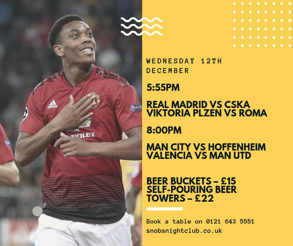 4️⃣ more games live in the bar tonight, with both Manchester United and Manchester City in action! ⚽️ #MUFC #MCFC  Call us on 0121 643 5551 to book a table ☎️