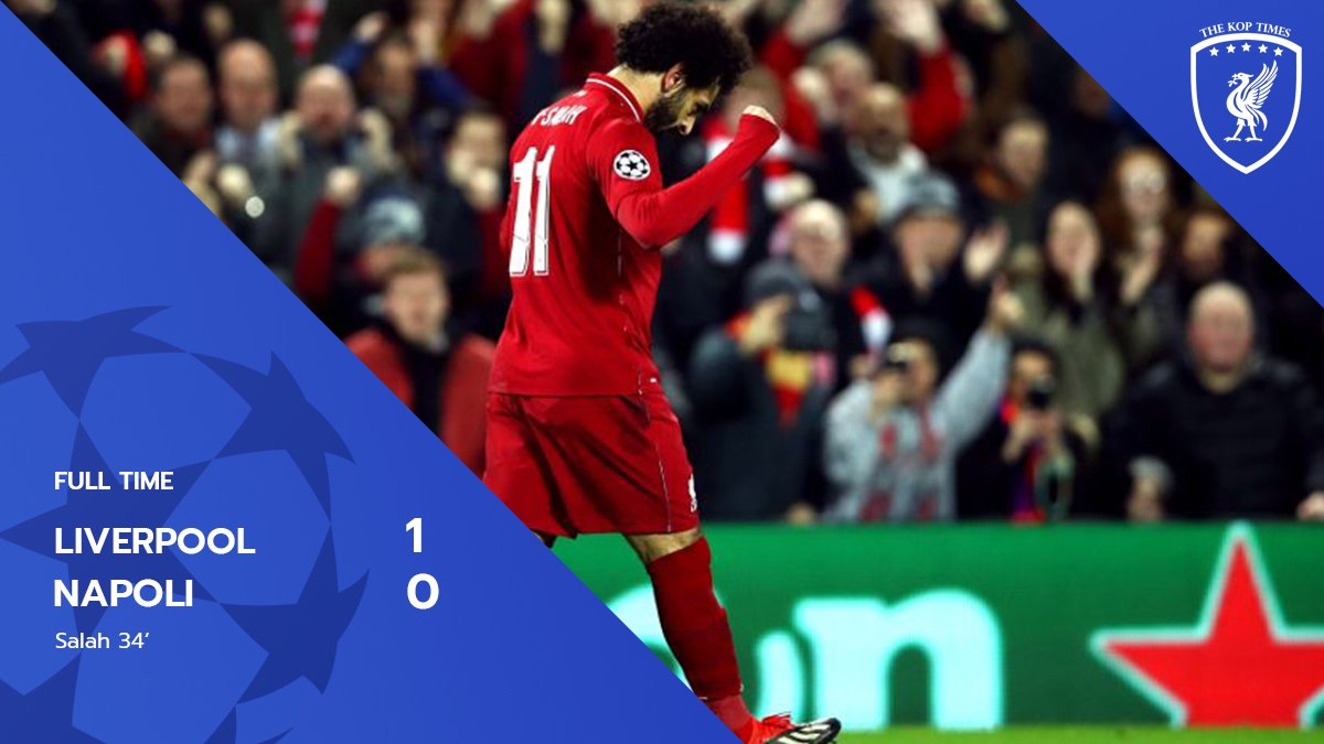 ⚽ Mohamed Salah's goal takes Liverpool through to the Last 16 of the UEFA Champions League  #TheKopTimes #LiverpoolFC #UEFAChampionsLeague #ChampionsLeague #LFC #Salah #LIVNAP #Alisson #Liverpool #Napoli