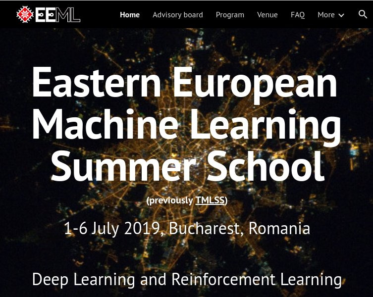 Image result for Eastern European Machine Learning Summer School