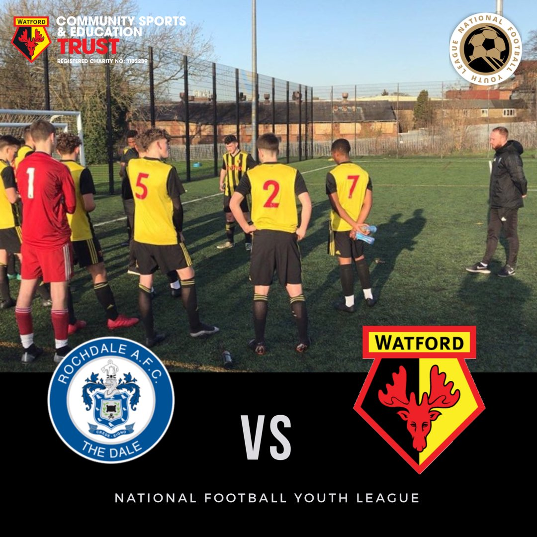MATCH DAY: Today we take on @RAFC_EDS in the @NFYLU19. long away trip ahead #Football #watfordfc #coyh #footballtrials #ballers
