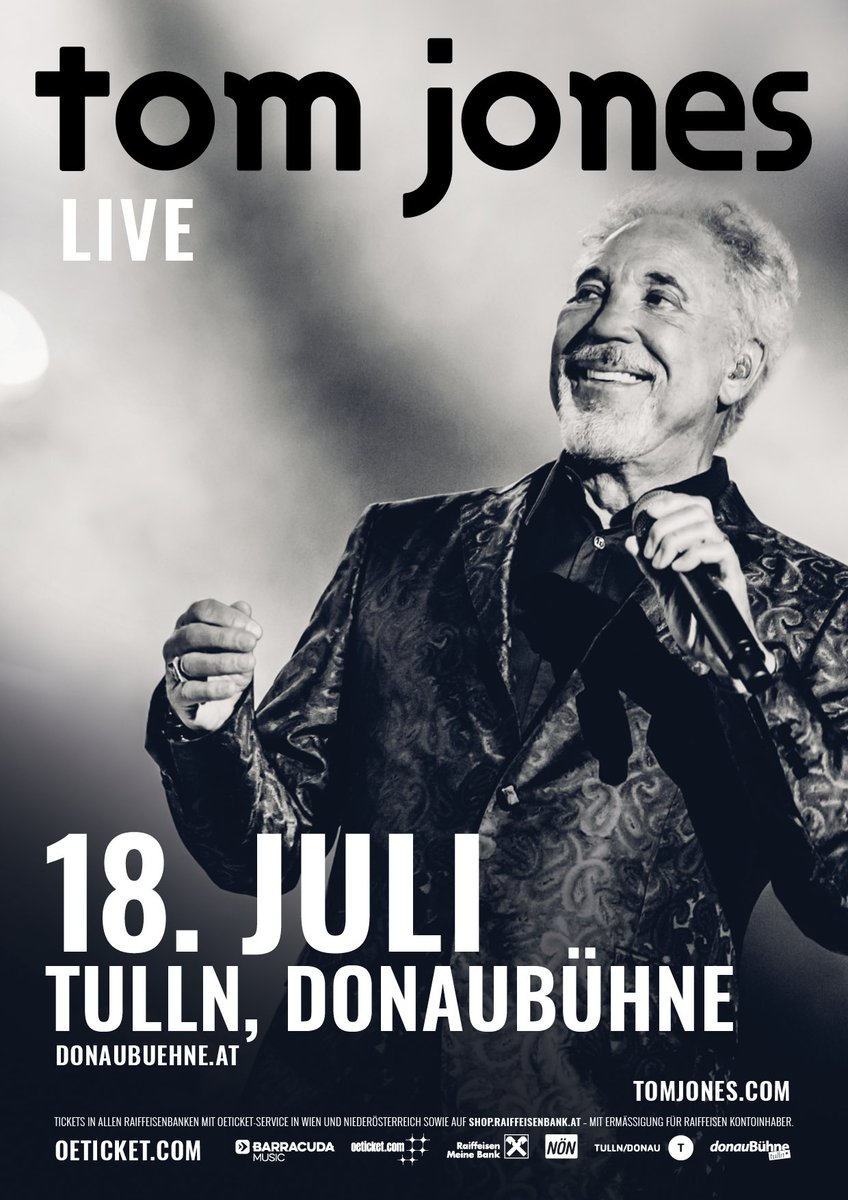 Tom Jones On Twitter Austria I Am Pleased To Announce A Show For