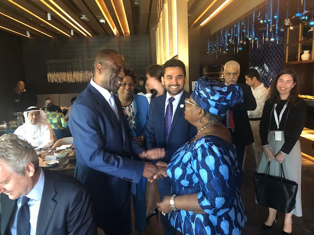 Also with his Excellency Prime Minister Carlos do Rosario of Mozambique and Former President Jakaya Kikwete of Tanzania.