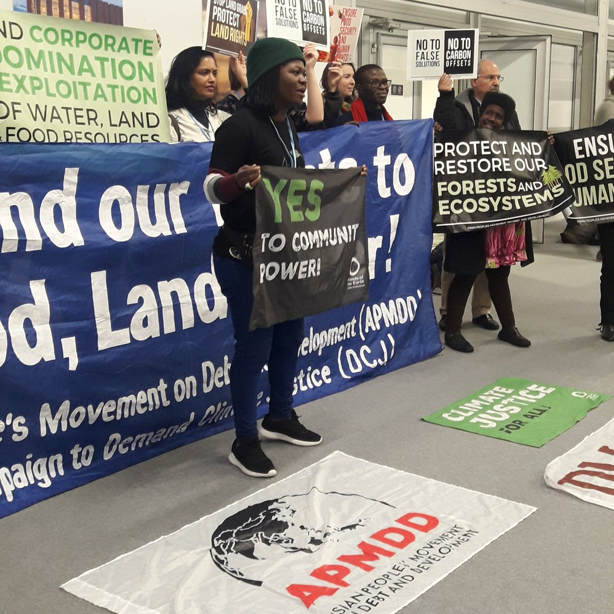 Hands off our food, land & water! Agribusiness is committing #humanrights abuses and landgrabbing. Industrial agrocommodities cannot feed the world. #Agroecology in the hands of communities is the only real solution to feed peoples and cool the planet! | @riouwaka #COP24