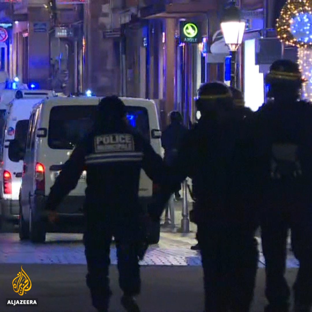 Hundreds of security personnel are hunting a gunman, after a shooting near a Christmas market in the French city of Strasbourg left 3 dead and 12 wounded.