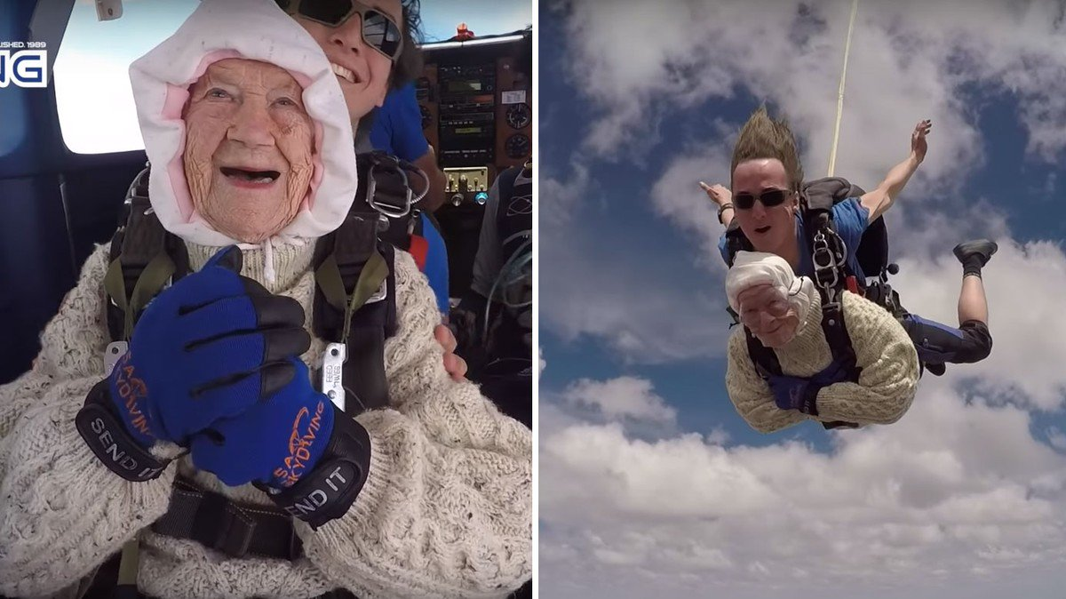 Watch This 102-Year-Old Woman Become the Oldest Person to Go Skydiving https://t.co/jITjZNbCwt