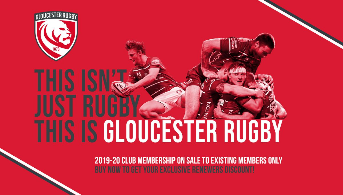 Our 2019-20 Club Memberships are now on sale exclusively for existing members. Club Membership remains the most cost-effective way to watch Gloucester Rugby at Kingsholm. https://t.co/ZlzIXLZWwy