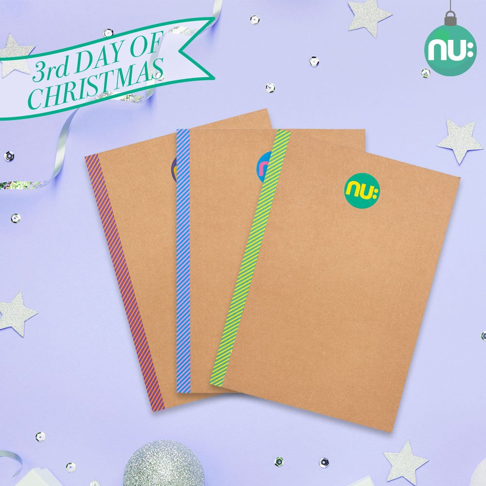 🎁12 Days of Christmas- Day 3!🎄 Win this pack of A5 Nu: Kraft Striped Notebooks! For a chance to win just RT and FOLLOW our page. UK entrants only. One winner over all Social Media platforms, winner announced tomorrow. #12DaysofChristmas #12DaysofChristmasGiveaways
